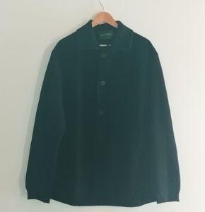 Danier Men Suede Black Vest Coat Wool Buttons Med
